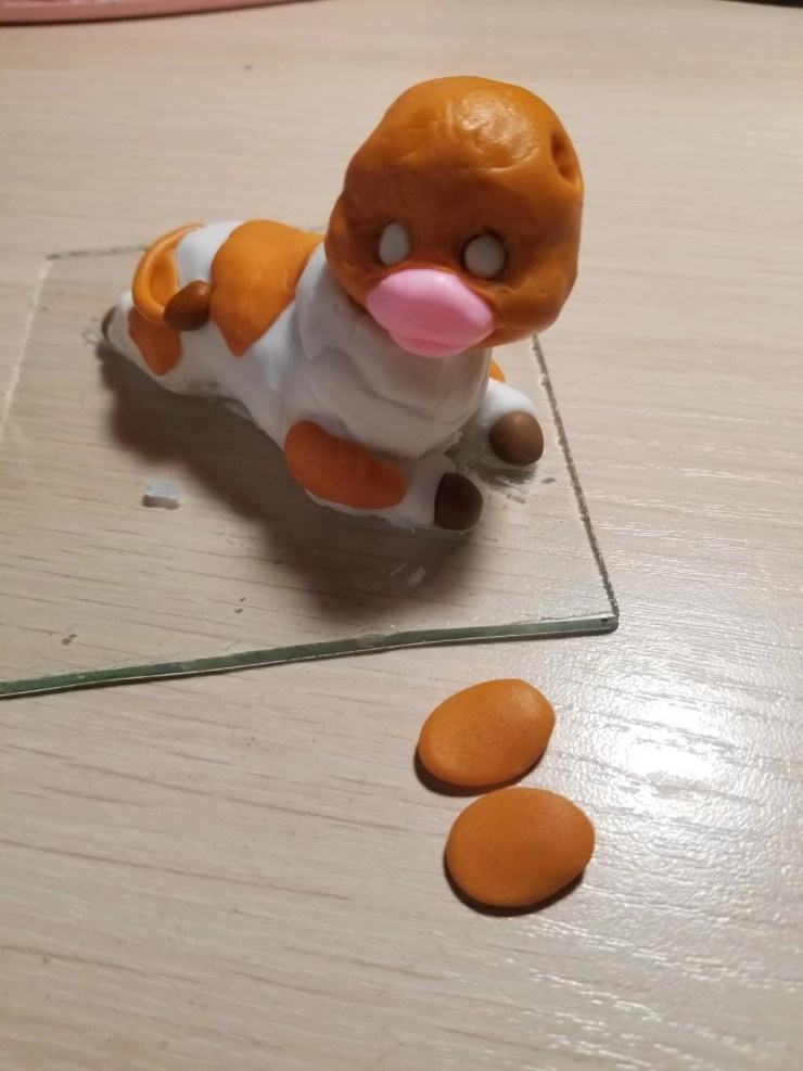 13a Bull from polymer clay.