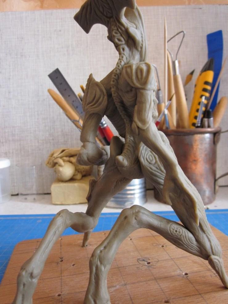 7 Polymer clay figurine monster