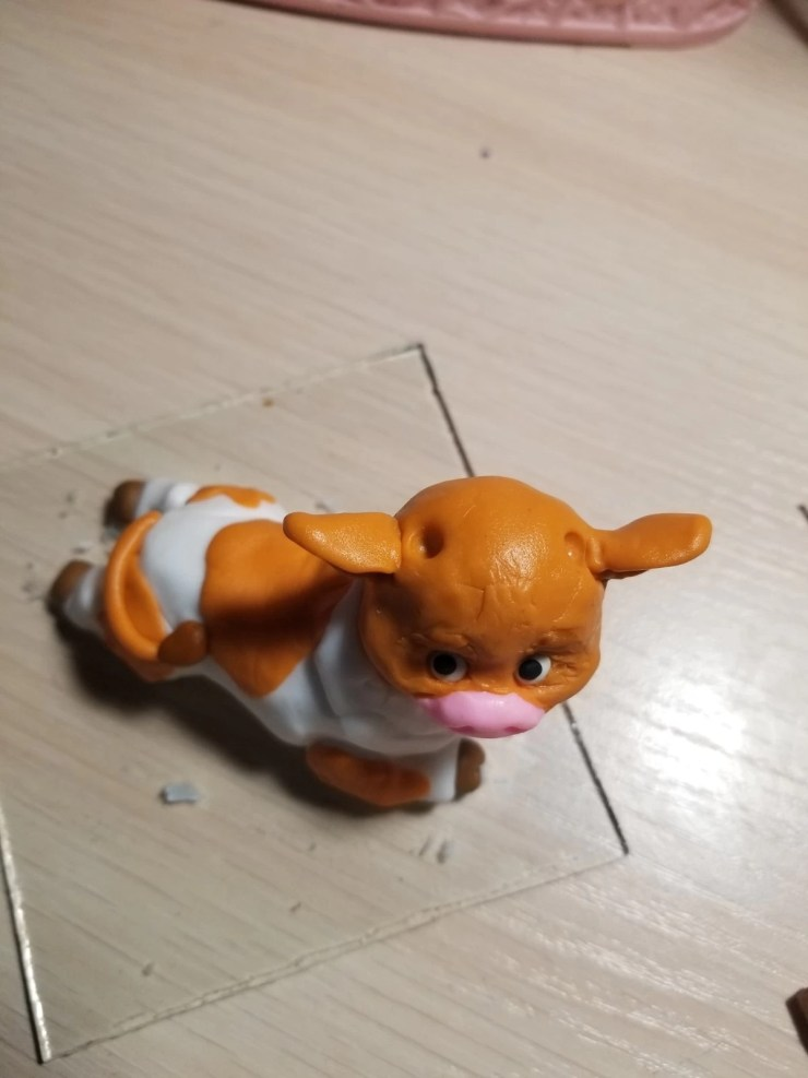15 Bull from polymer clay.