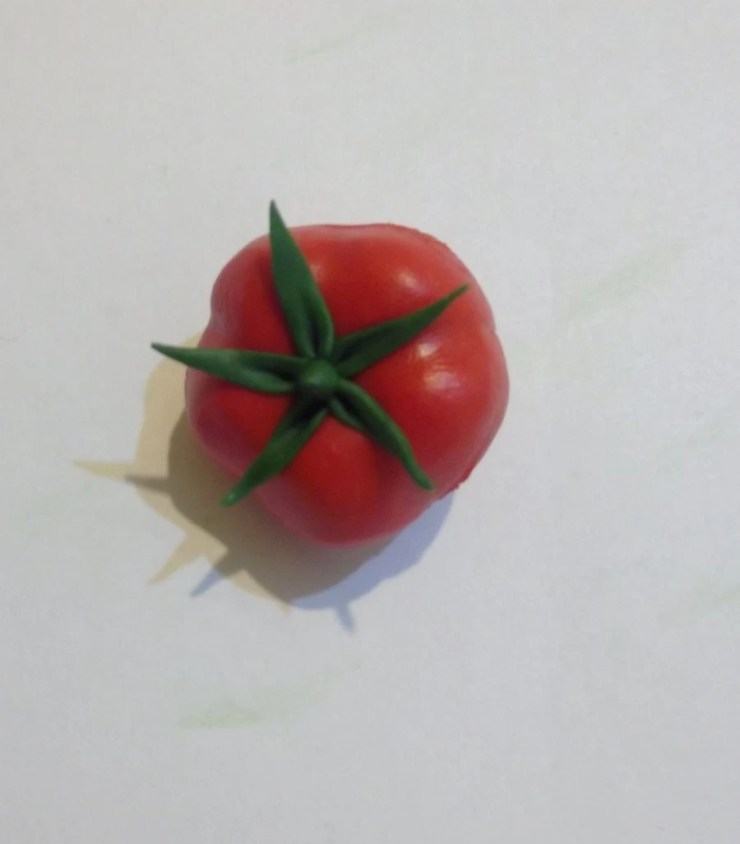 15 Polymer clay tomato. Photo tutorial on polymer clay food