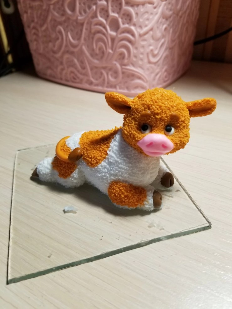 16a Bull from polymer clay.