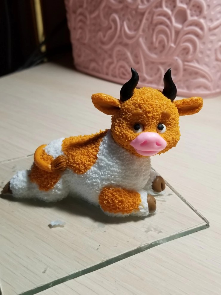 17 Bull from polymer clay.