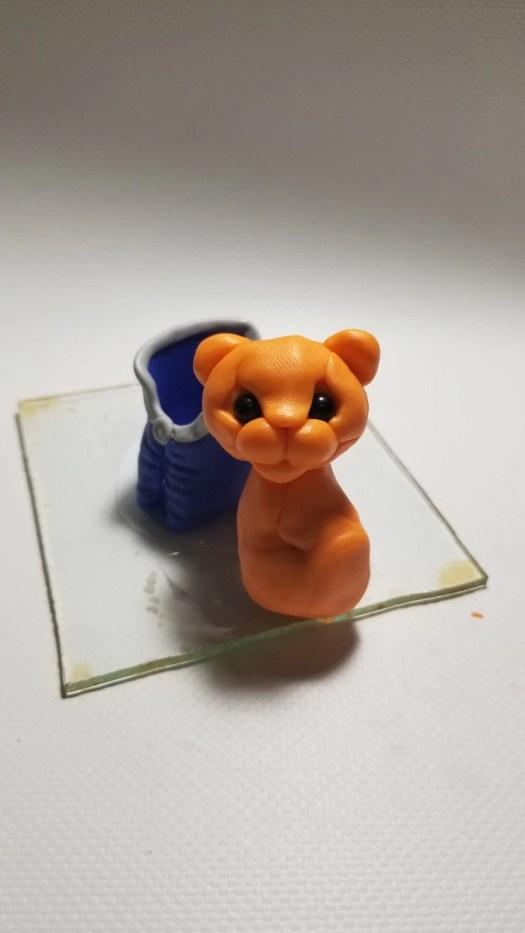 16 Polymer clay cute tiger cub