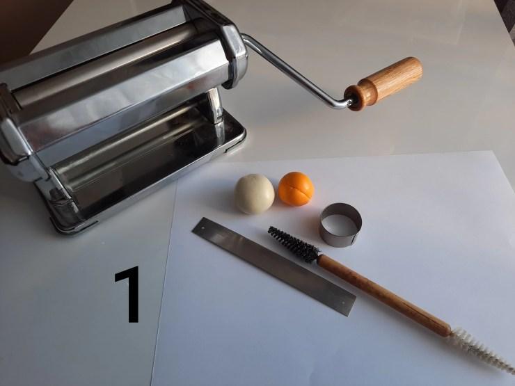 Photo 1. Materials and tools
