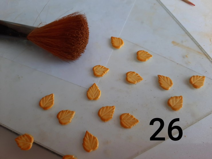 Photo 26. Polymer clay cake tutorial. Decorating the cake