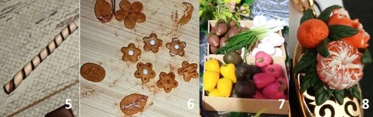 Polymer clay food. Tutorials on polymer clay 5-8