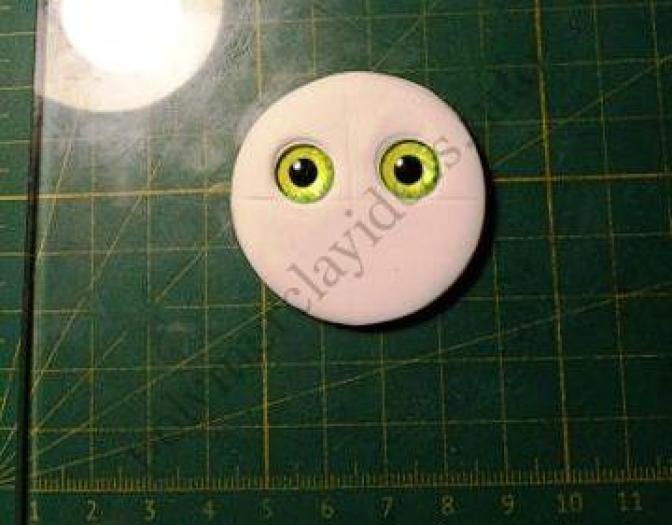 "1 Polymer clay brooch ""Cute Owl"". A photo tutorial on modeling"