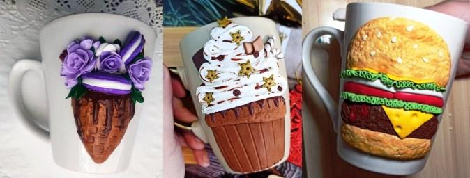 Polymer clay decor: Food - Ice cream, cake, burger