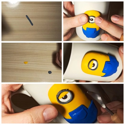 6 Polymer clay tutorial: Minion on a mug