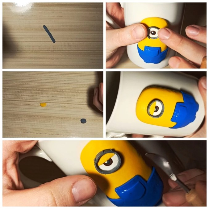 6 Polymer clay tutorial: Minion on a mug