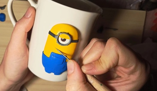 8 Polymer clay tutorial: Minion on a mug
