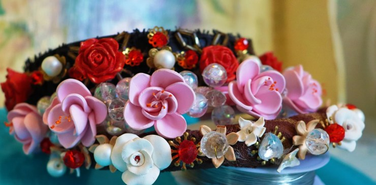 Hairbands polymer clay flowers