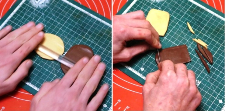 Skinner blend Technique. Tutorial on polymer clay