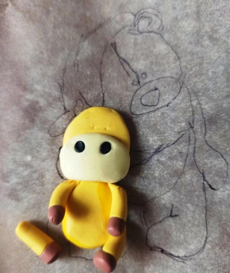 15 Photo tutorial. Polymer clay mug decor: Teddy bear with bull