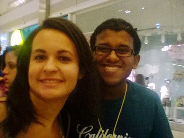 Eu e o Sandro em uma #selfie pós evento.