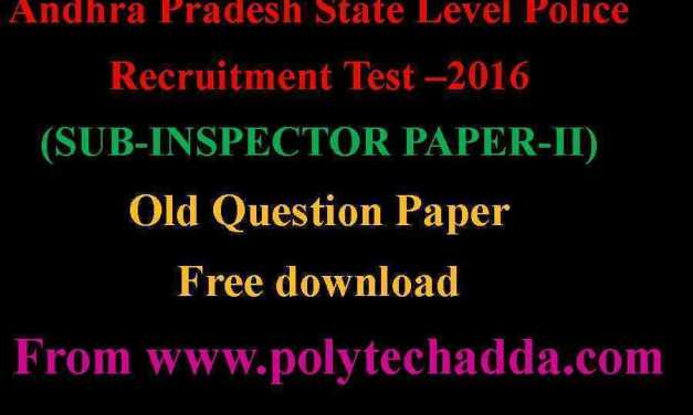 SUB.INSPECTOR PAPER-2 OLD QUESTION PAPER