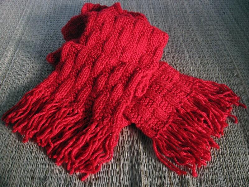 Đây là chiếc khăn len đầu tiên mình đan