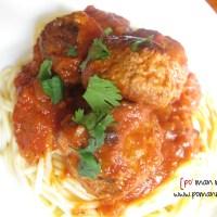spaghetti w/turkey meatballs