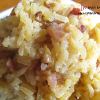 smoky bacon rice