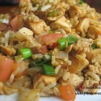 cajun chicken, sausage and rice