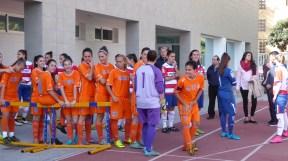 Málaga (orange) vs. Granada (stripes).