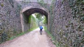 Riding towards Girona.
