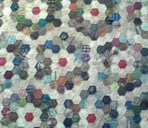 Handsewn hexagons - not by me!