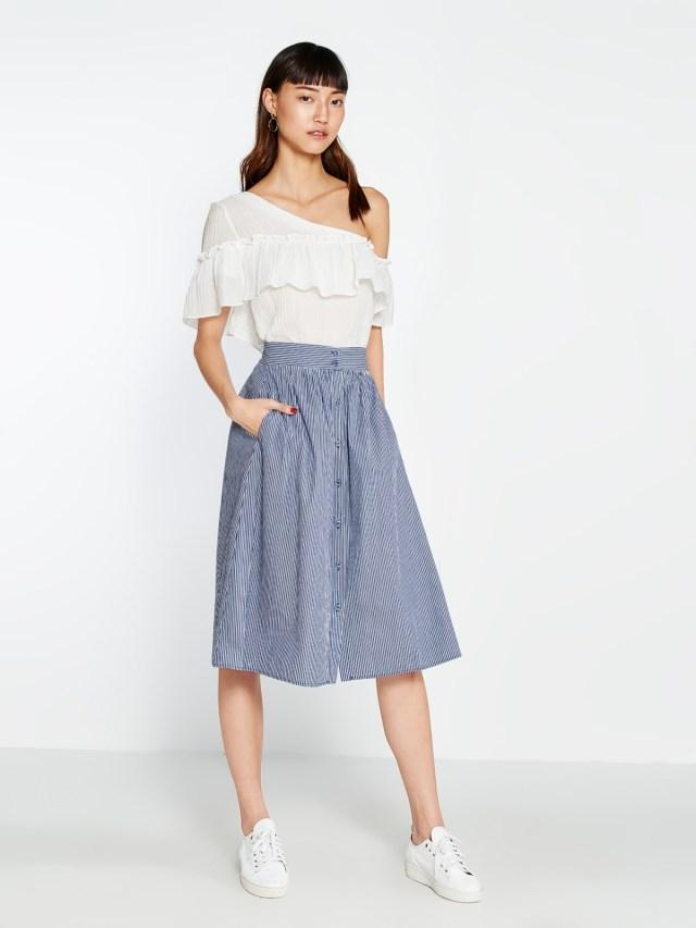 Patti Buttoned Skirt