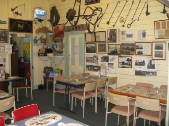 One of the dining areas in Rudds Pub