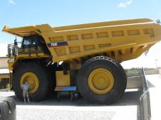 The huge trucks that work in the mines. Can you see Jack?