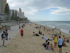 This is the beach the council repaired with truck loads of sand