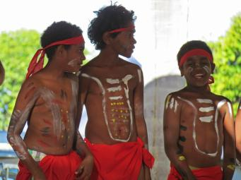 Young Aboriginal dancers.