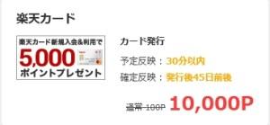 モッピー楽天カード発行