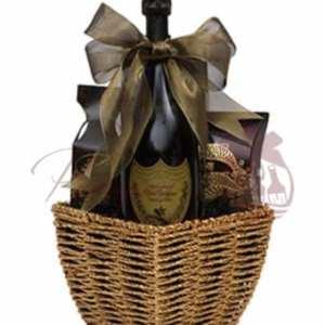 Vintage Celebration Champagne Gift Basket