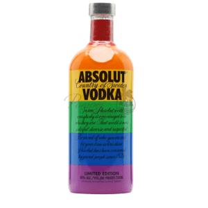Absolut Colors, Absolut LGBT, LGBT Vodka, LGBT Liquor, Rainbow Absolut, Rainbow Flag Liquor, Gay Pride Absolut, LGBT Supporting Companies