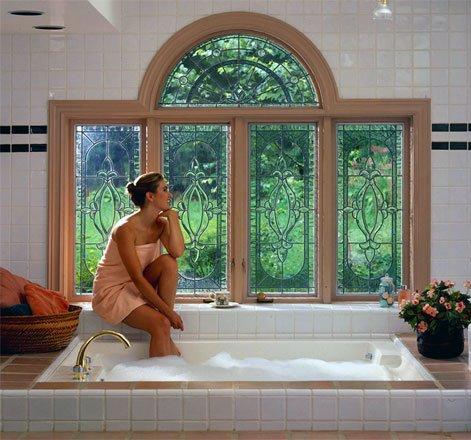 Custom Stained Glass Jacuzzi Window