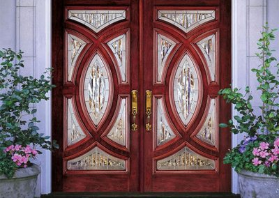 Jeld Wen custom fiberglass and wood doors