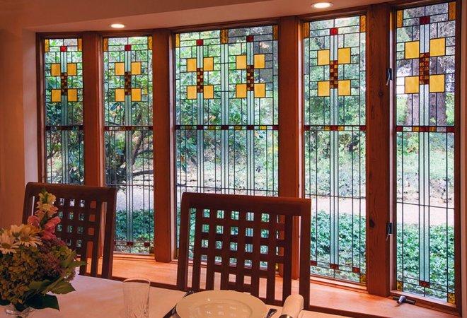 Frank Lloyd Wright Inspired Gibbons House Window