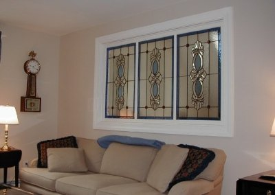 Triptych Beveled Glass Room Divider