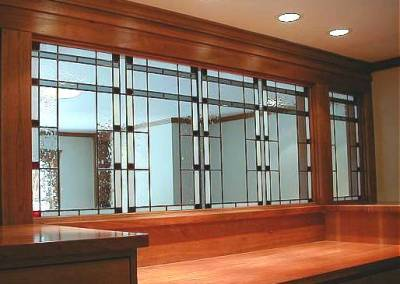 Prairie stained glass Wall Divider