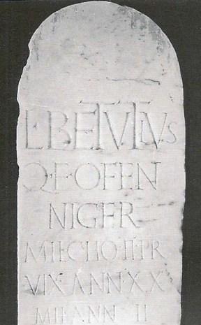 Tomb NG1 Pompeii belonging to the praetorian Lucius Betutius Niger, son of Quintus.