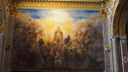 Wizerunek św. Benedykta w bazylice