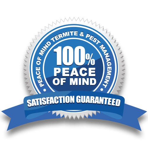 Satisfaction guarantee termite and pest control seal logo
