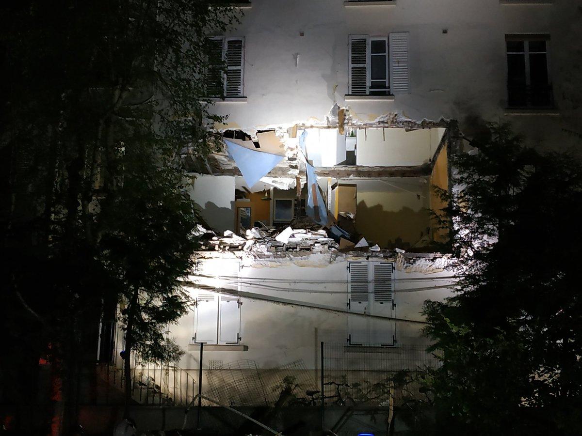 ?? Paris (75) : Un appartement soufflé par une explosion