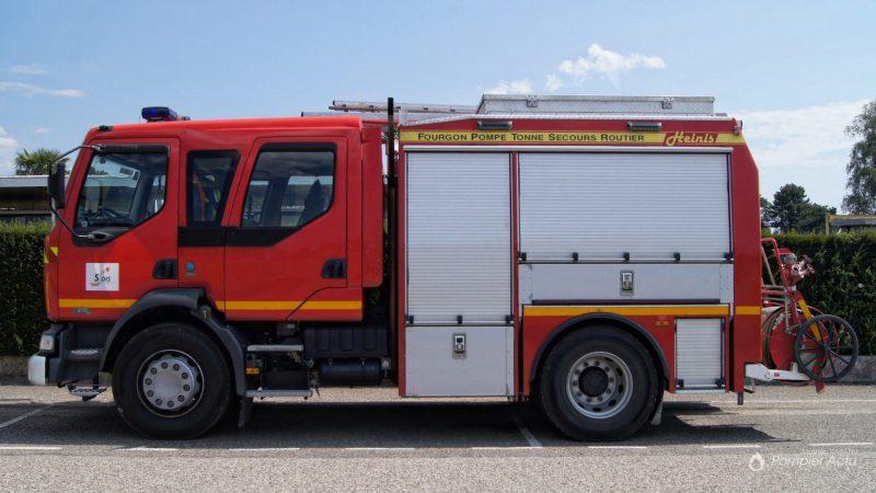 🇫🇷 Saint-Maurice-de-Beynost (01) : Choc entre un fourgon d'incendie et une voiture