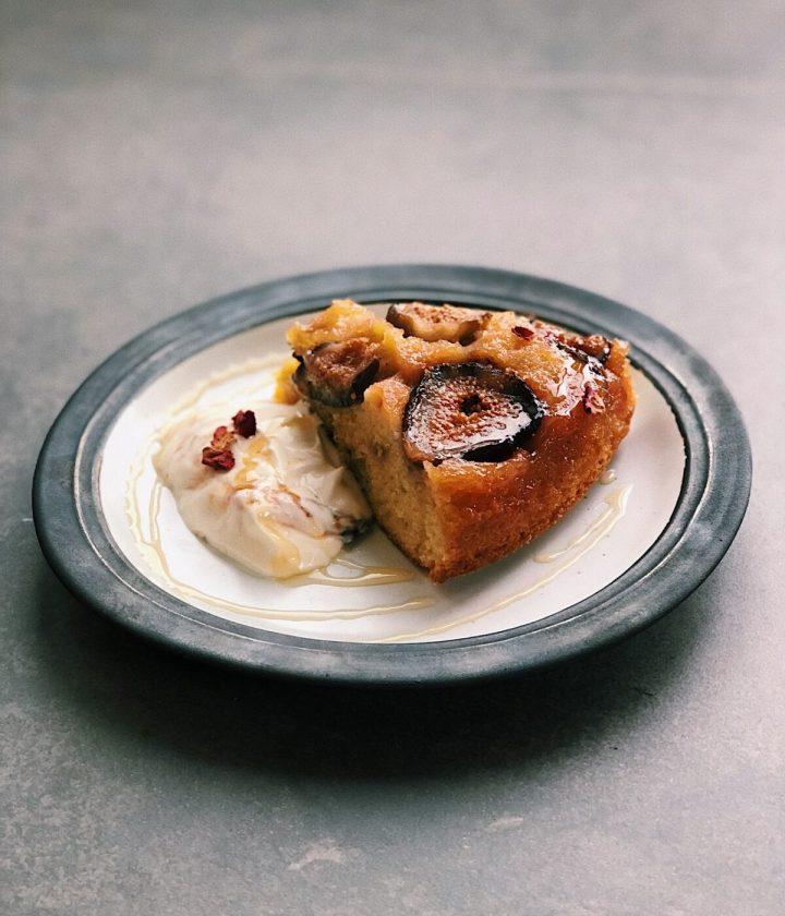Fig, Honey & Rosemary Upside-Down Cake