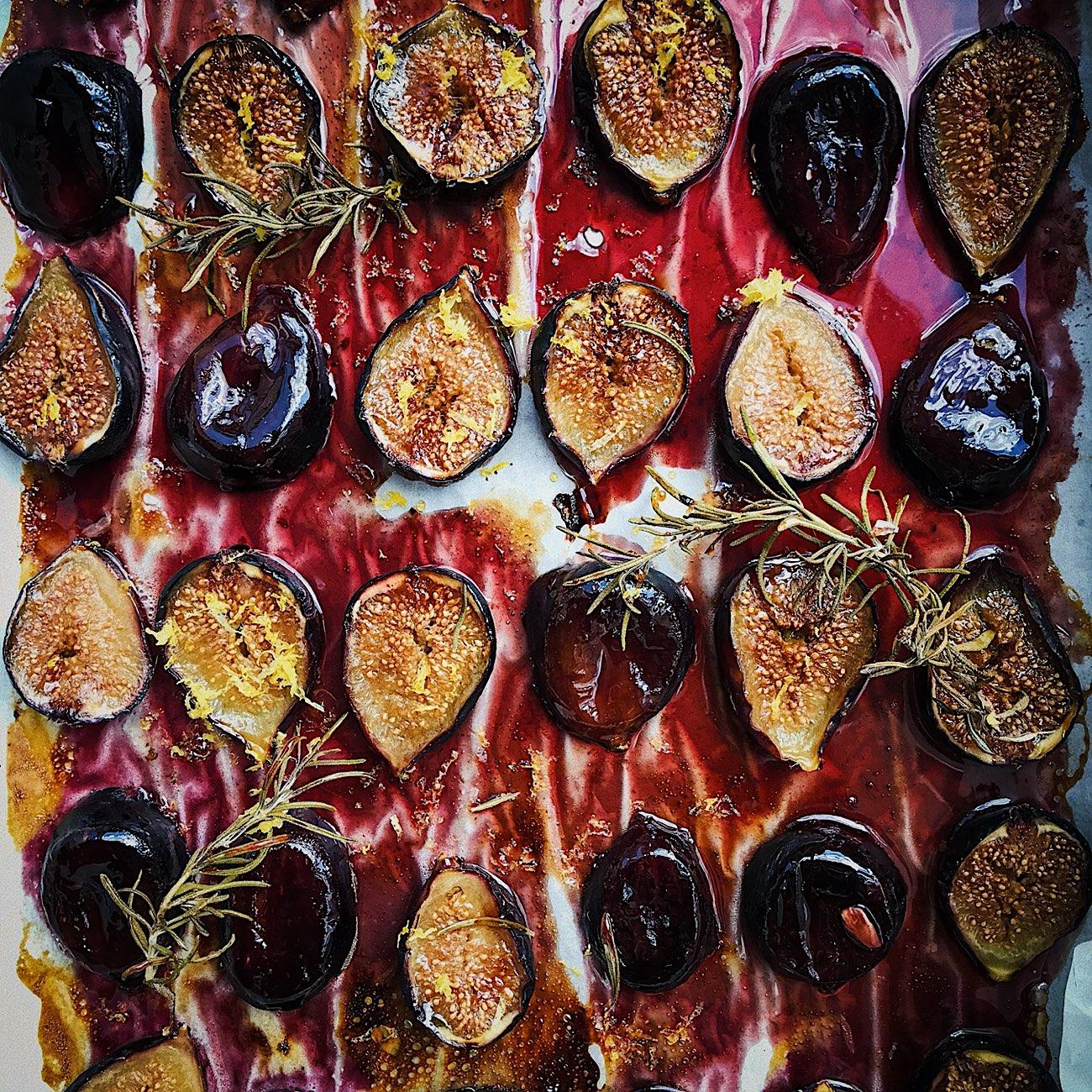 Roasted, Sticky Figs