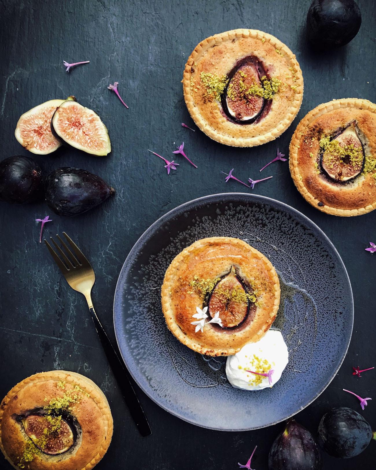 Fig, Frangipane and Baklava Tarts