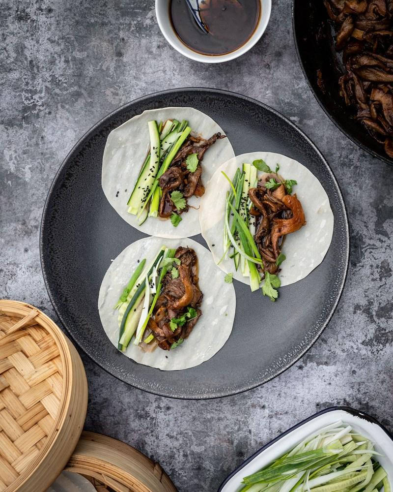 Peking Wild Mushroom Asian Pancakes