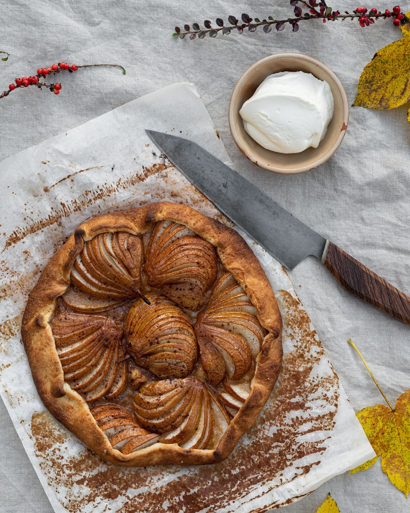 Pear and Browned Butter Salted Caramel Galette